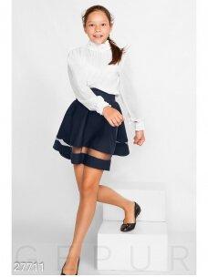 Tamsiai mėlynas sijonas mergaitei 0992D185