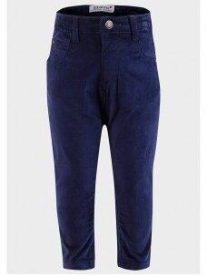 Tamsiai mėlynos vaikiškos džinsinės kelnės Babaluno 0911D173