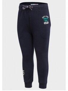 Tamsiai mėlynos vaikiškos sportinės kelnės Brooklyn Crew 0715D137