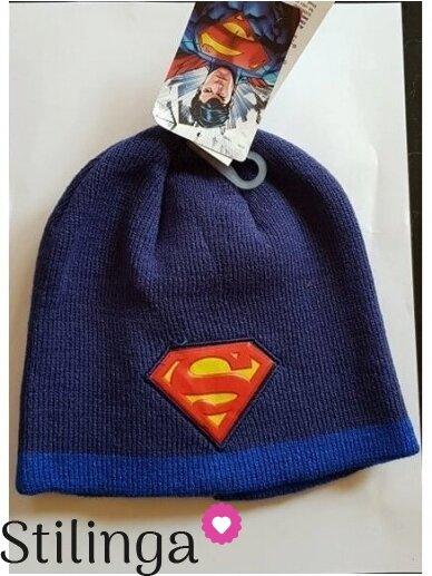 Tamsiai mėlyna vaikiška kepurė Supermenas 0706D133