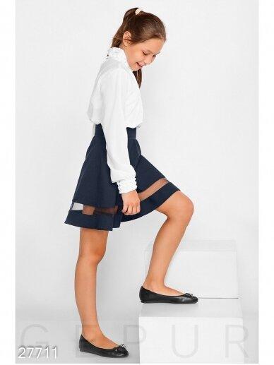 Tamsiai mėlynas sijonas mergaitei 0992D185 3
