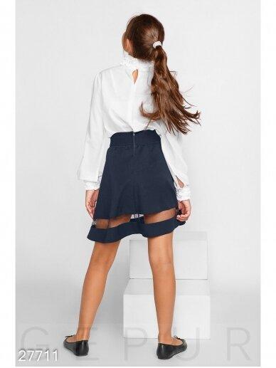 Tamsiai mėlynas sijonas mergaitei 0992D185 4