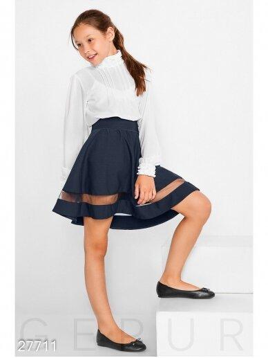 Tamsiai mėlynas sijonas mergaitei 0992D185 2
