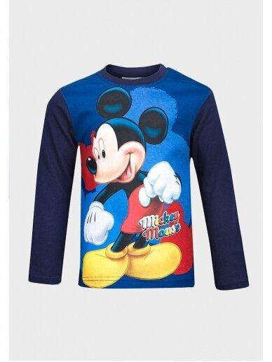 Tamsiai mėlyni Mickey Mouse marškinėliai ilgomis rankovėmis 1032D193