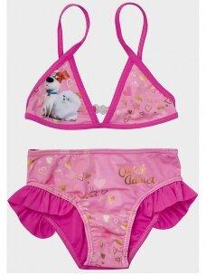 The Secret Life of Pets fuksijų spalvos 2 dalių maudymosi kostiumėlis 1050D194