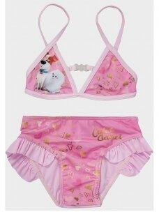 The Secret Life of Pets rožinis 2 dalių maudymosi kostiumėlis 1043D194