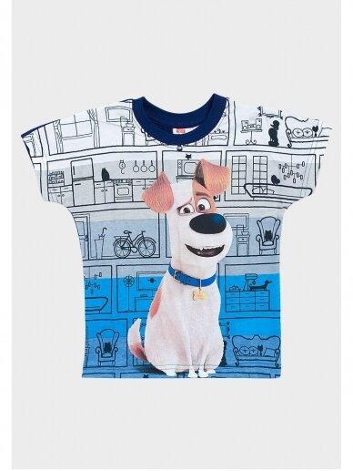 The Secret Life of Pets marškinėliai su tamsiai mėlyna apykakle 0969D181