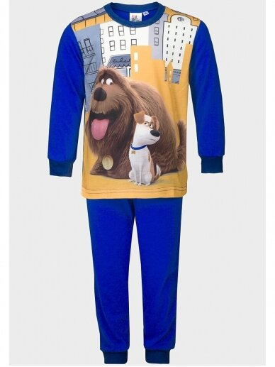 The Secret Life of Pets mėlyna vaikiška pižama 1065D197