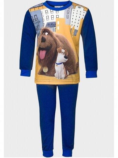 The Secret Life of Pets tamsiai mėlyna vaikiška pižama 1066D197