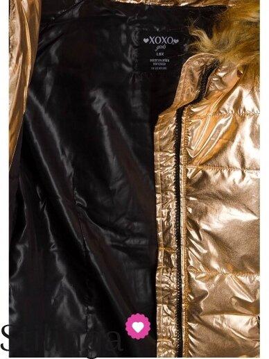 Vaikiška aukso spalvos dygsniuotas striukė Xoxo 1107PL03 6