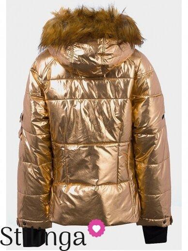 Vaikiška aukso spalvos dygsniuotas striukė Xoxo 1107PL03 2