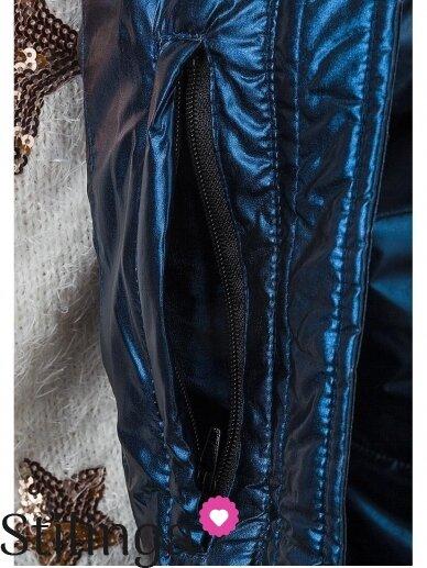 Vaikiška tamsiai mėlyna dygsniuotas striukė Xoxo 1112PL01/02 6