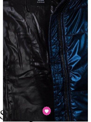 Vaikiška tamsiai mėlyna dygsniuotas striukė Xoxo 1112PL01/02 7