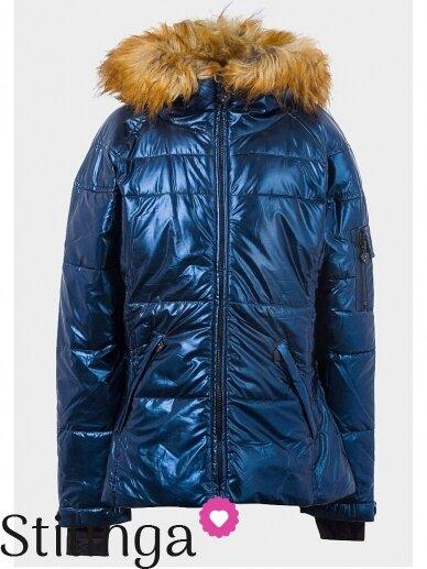 Vaikiška tamsiai mėlyna dygsniuotas striukė Xoxo 1112PL01/02