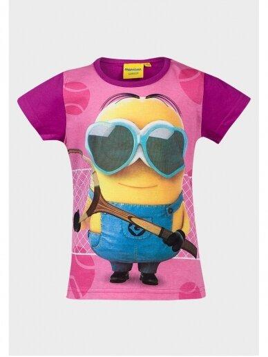 Vaikiški Minions marškinėliai Pakalikas su akiniais 1003D184
