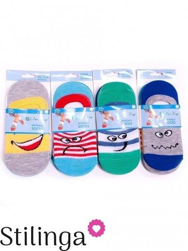 Vaikiškų kojinių pėdučių rinkinys 5502D03, 3 poros