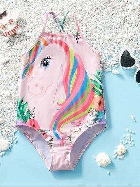 Vientisas vaikiškas maudymosi kostiumėlis Vienaragis 0694D124