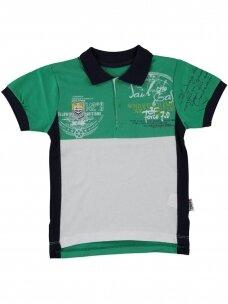 Žalios spalvos marškinėliai su sagutėmis 0055D12
