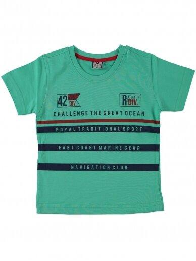 Žalios spalvos marškinėliai 0047D12