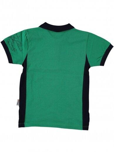 Žalios spalvos marškinėliai su sagutėmis 0055D12 2