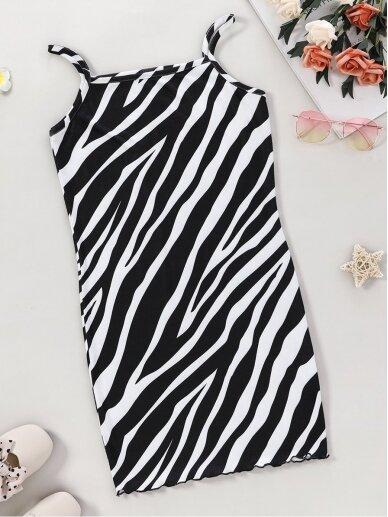 Zebro rašto vaikiška suknelė 0634D115