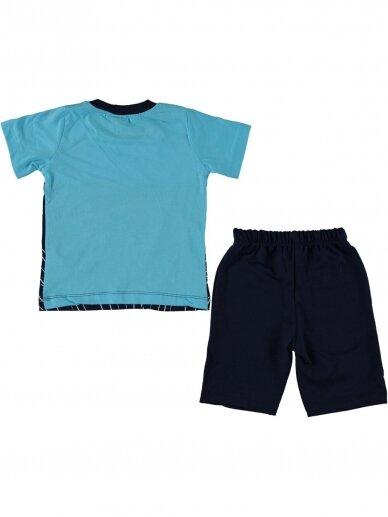 Žydri mėlyni marškinėliai ir šortai Speed 1081D215 2
